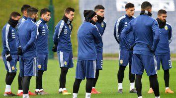 Reunidos. Con Messi a la cabeza, el plantel argentino en la previa de los amistosos.