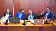 Abogados. Carlos Edwards, Fausto Yrure, Adrián Martínez y Carlos Varela, defienden a los Cantero.