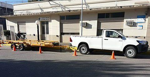 flamantes. Una camioneta Toyota y un chatón fueron adquiridos.