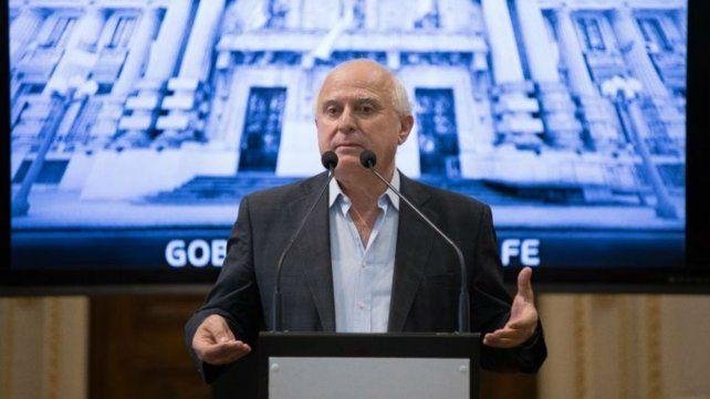 El gobernador de Santa Fe, Miguel Lifschitz.