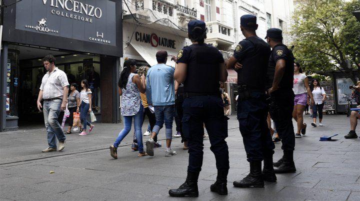 Seguridad. La policía controlará las peatonales ante el paro de 48 horas de los municipales.