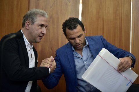Defensores. Carlos Edwards y Fausto Yrure, dos de los abogados del