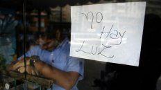 Crisis. Los comercios venezolanos padecen reiterados cortes de luz.