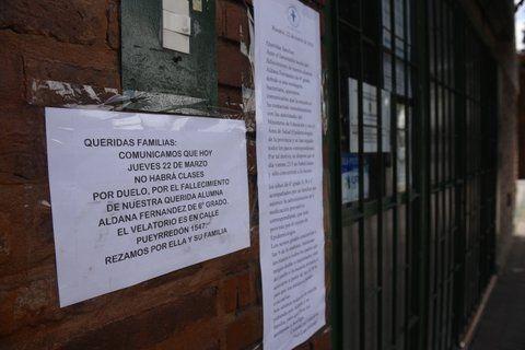 consternación. Las autoridades escolares decidieron ayer suspender las actividades.