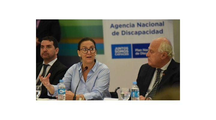 en detalle. La vicepresidenta explicó junto a Lifschitz los alcances de la Agencia Nacional de Discapacidad.