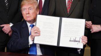 guerra comercial. Trump subió tarifas aduaneras a China, a la que acusó de robar tecnología.
