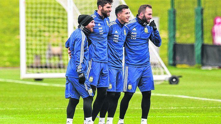 Con una sonrisa que contagie. Messi