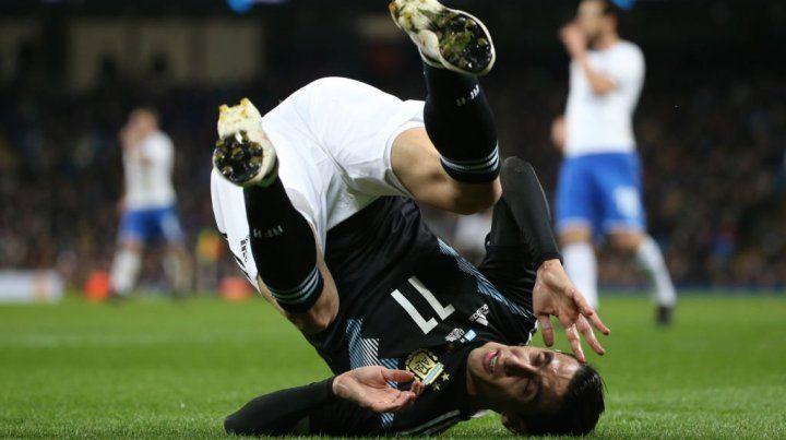 Desafectado. El rosarino Di María no estará frente a España en el segundo amistoso.