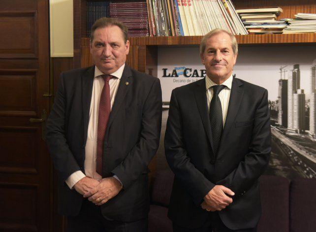 El funcionario provincial junto al gerente general