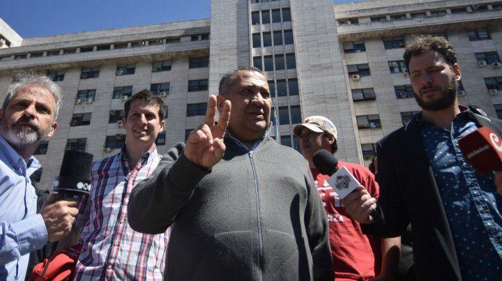 El dirigente piquetero también quedó en libertad esta mañana.