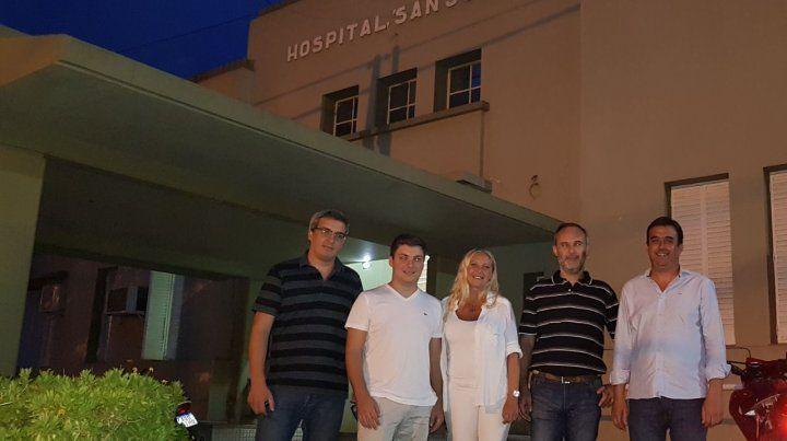 Directivos. El equipo que desde el año pasado normalizó y ahora conduce el Samco sanjorgense.