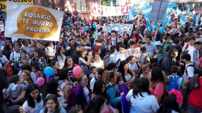 La Marcha del Niño por Nacer colmó la plaza 25 de Mayo