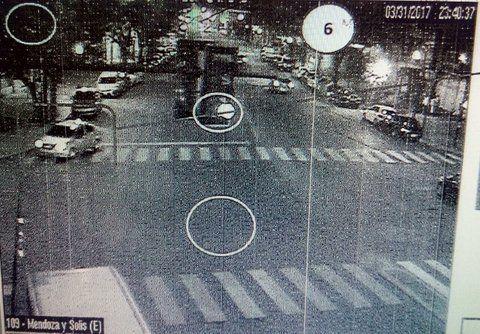 barrio belgrano. El Ford Fiesta de la víctima captado antes del secuestro