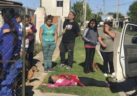 general rodríguez. Una hermana de la mujer asesinada salió corriendo con heridas leves..