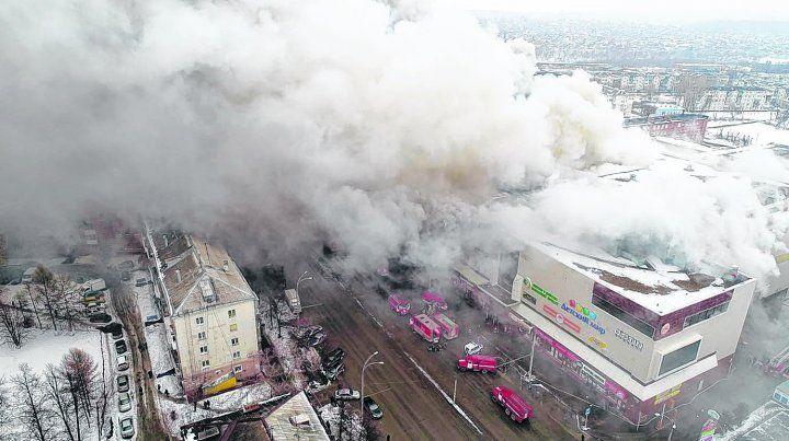 espeluznante. La tragedia se desató en el cuarto piso del Centro Comercial Winter Cherry