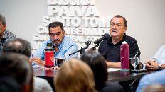 Claudio Leoni y Antonio Ratner, los máximos referentes de la Festram a nivel provincial. (Foto de archivo)