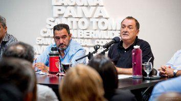 Claudio Leoni y Antonio Ratner, los máximos referentes de la Festram a nivel provincial.
