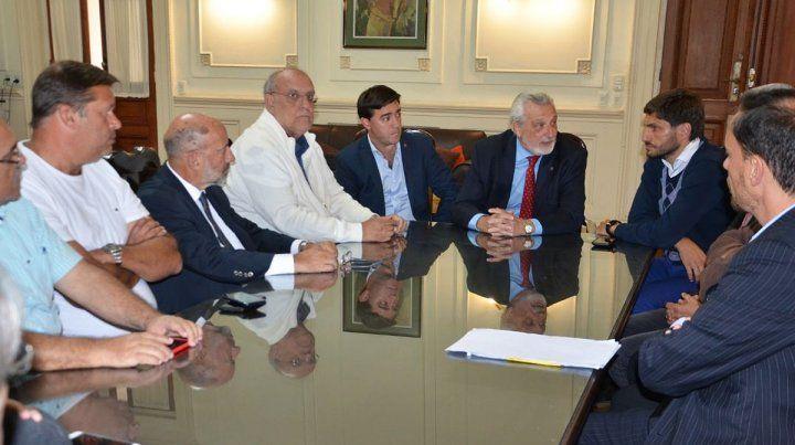 Reunión. Del encuentro participó esta vez el presidente de Newells