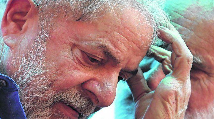 abatido. Lula ayer