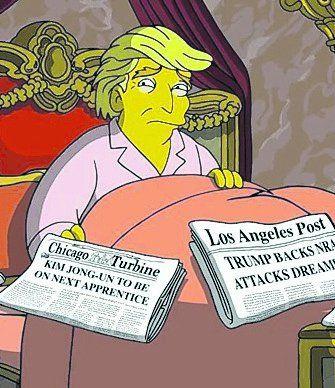 Los Simpsons vs. Donald Trump