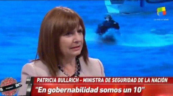 Patricia Bullrich: En gobernabilidad somos un 10