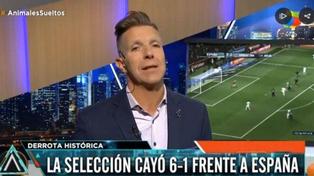 Fantino apuntó contra Sampaoli tras la derrota por goleada ante España