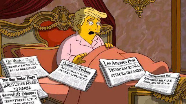 Los Simpsons versus Donald Trump
