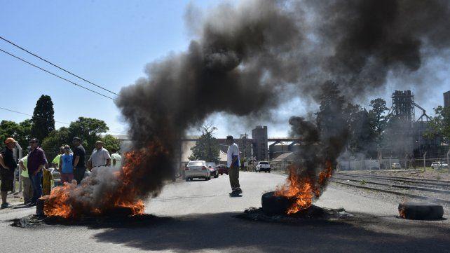 Los aceiteros protestan también por la situación en Gargill