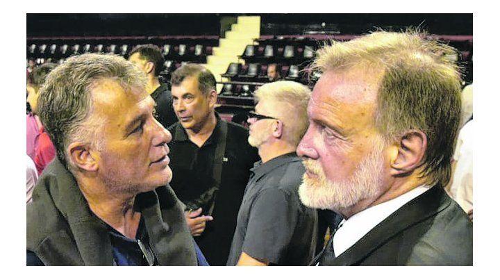 Fue al estadio y habló. El ex canciller fue uno de los expositores en la asamblea.