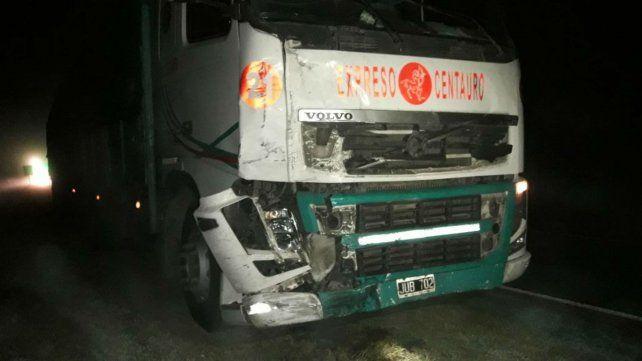 El camión Volvo que venía de la provincia de Córdoba.