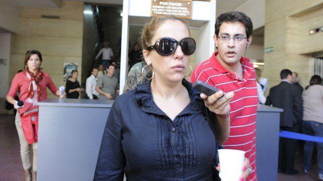 Norma Acosta, en uno de sus pasos por Tribunales.