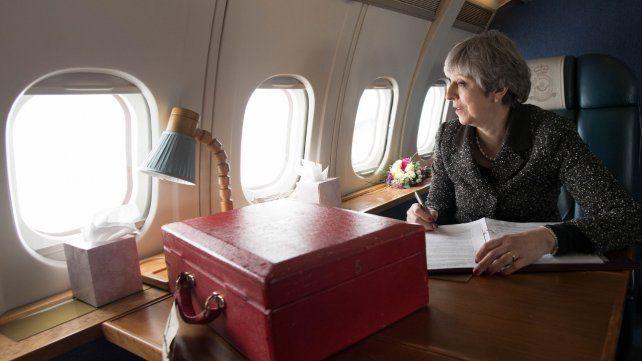 Theresa May recorrió en un mismo día distintos lugares en Inglaterra