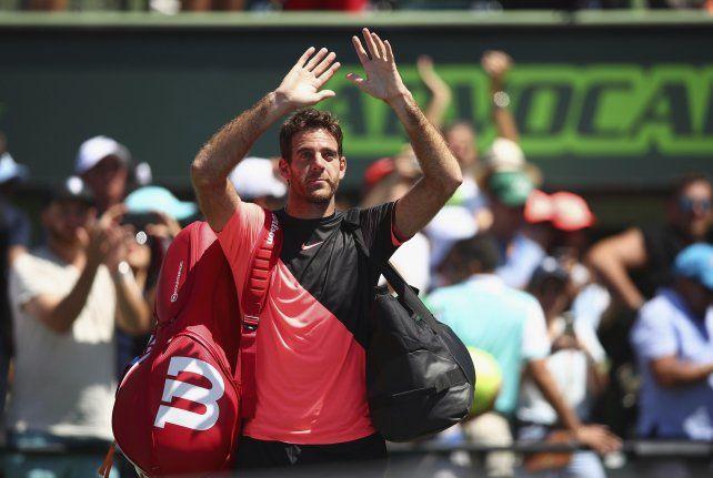 Juan Marín del Potro cayó en dos sets ante John Isner en las semifinales de Miami.