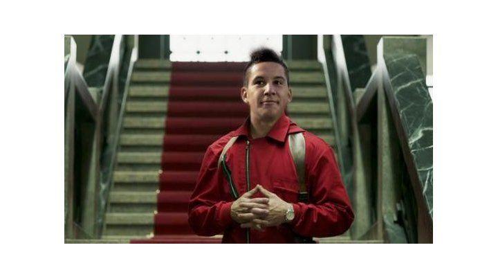 Sebastián Driussi en el papel de uno de los atracadores de La Casa de Papel.
