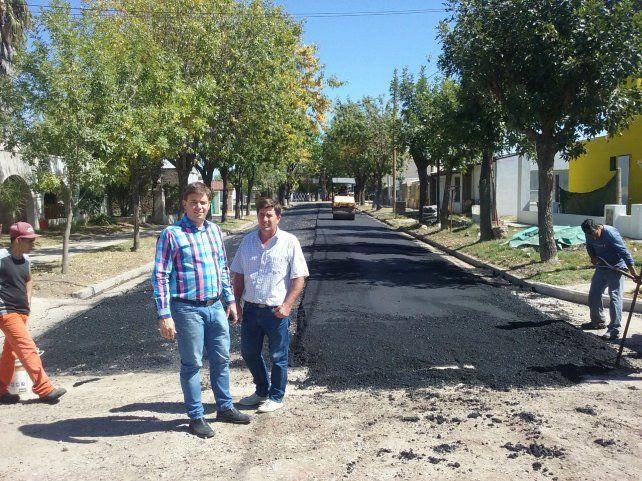 Progreso. El presidente comunal Luciani y el vice Marconcini.