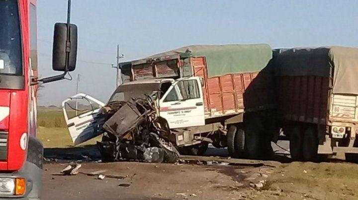 Pesados. El accidente ocurrió el jueves a la altura de Lucio V. López.
