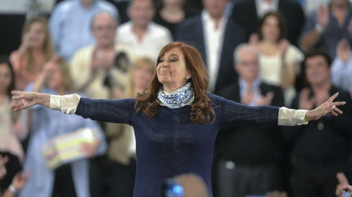 La expresidenta Cristina Fernández.