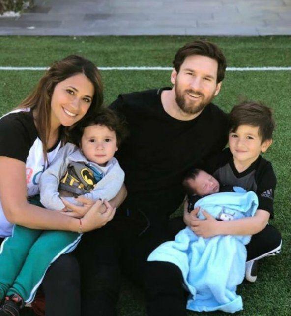 Messi celebró las Pascuas y compartió una foto en familia