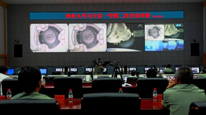 El laboratorio experimental chino Tiangong-1 es un módulo de diez metros de longitud y 8