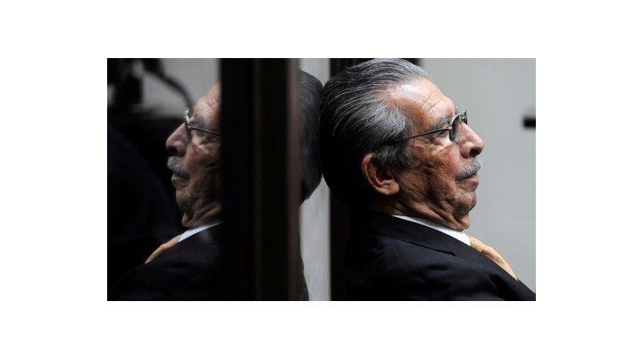 juzgado. Ríos Montt en enero de 2013