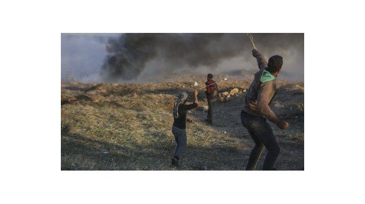 piedrazos. Ayer continuaron los incidentes en la zona de frontera entre Franja de Gaza e Israel.