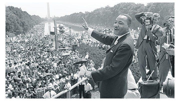 king. El líder de la lucha pacífica por los derechos civiles en los EEUU.