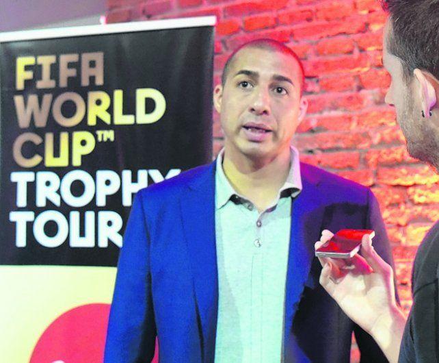 Señor David. Trezeguet estuvo en Rosario y habló sobre el Mundial.