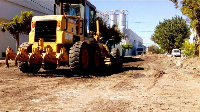Importantes obras de pavimento definitivo en barrio Las Heras Sur
