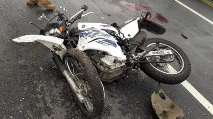 Falleció el motociclista fue quedó envuelto en un accidente en la autopista a Santa Fe
