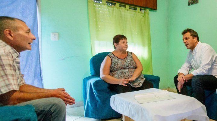 El líder del Frente Renovador Sergio Massa recordó a un soldado muerto en la guerra de Malvinas.