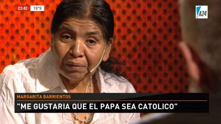 Margarita Barrientos: Me gustaría que el Papa sea católico