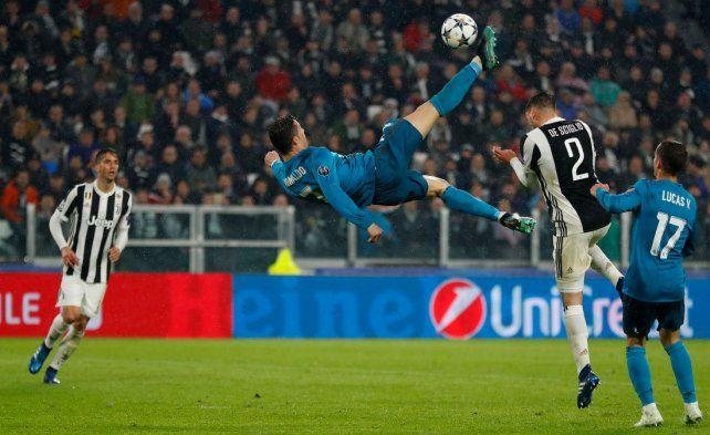 Monumental. La tremenda chilena de Cristiano Ronaldo