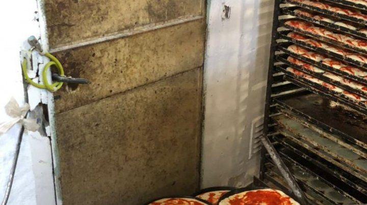 Clausuraron una fábrica de pizzas por falta de habilitación y condiciones de higiene