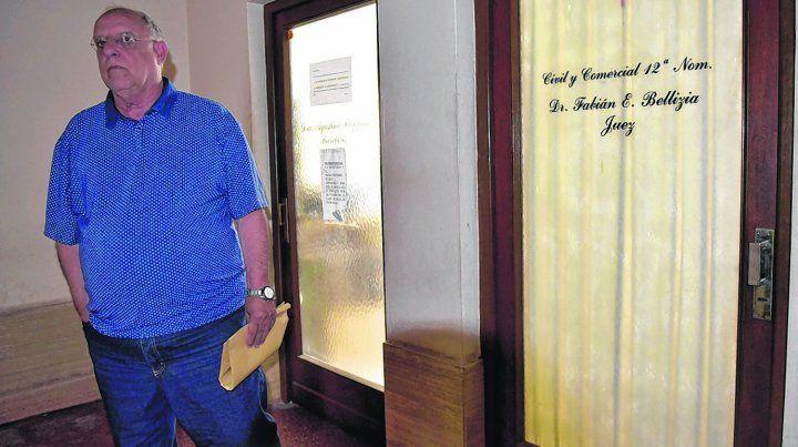 Cara a cara. Eduardo Bermúdez se reunió con Fabián Bellizia ayer en Tribunales.